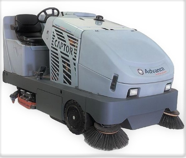 Advance Captor 4800 Battery Rider Sweeper Scrubber