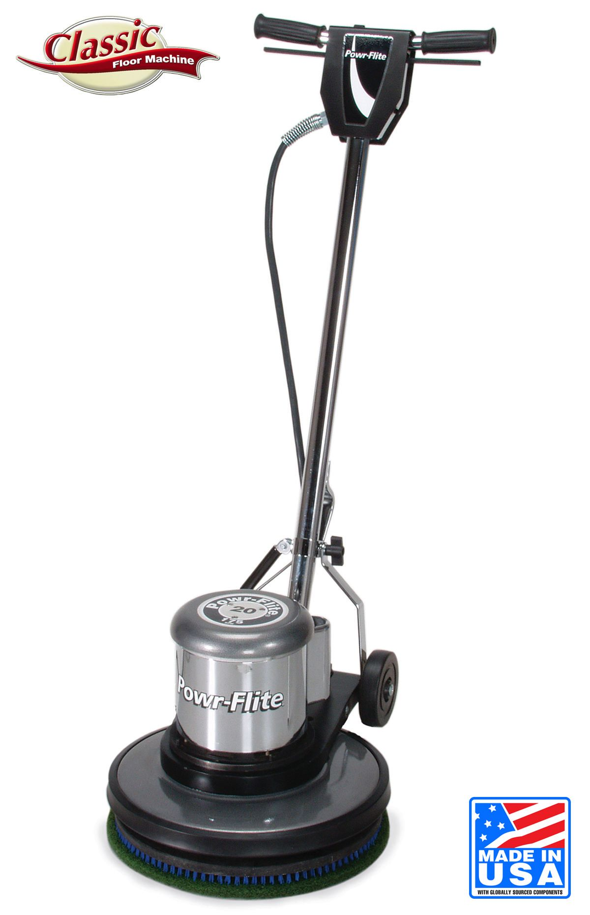 Powr-Flite Classic Corded 17 Inch Floor Buffer