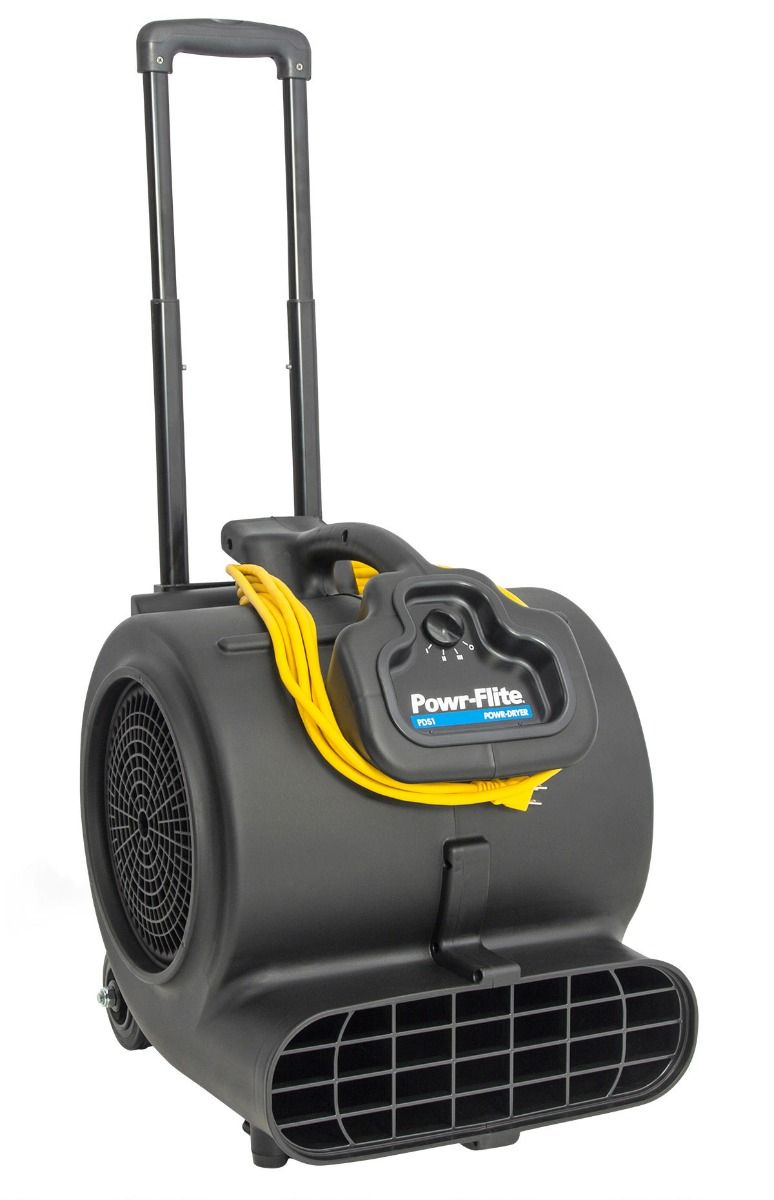 Powr-Flite 3 Speed Air Mover with Handle and Wheels PDS1DX