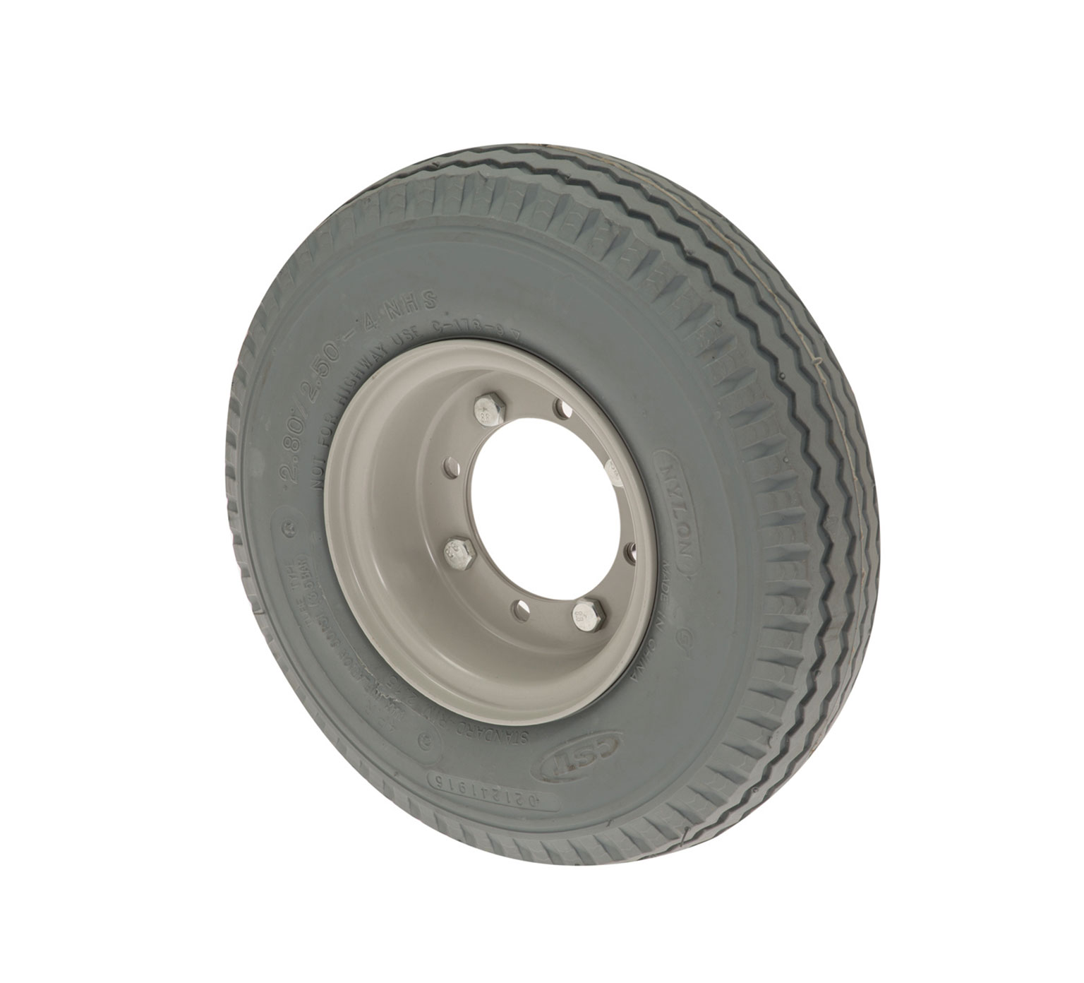 High Density Rubber Foam Filled Tire Assembly