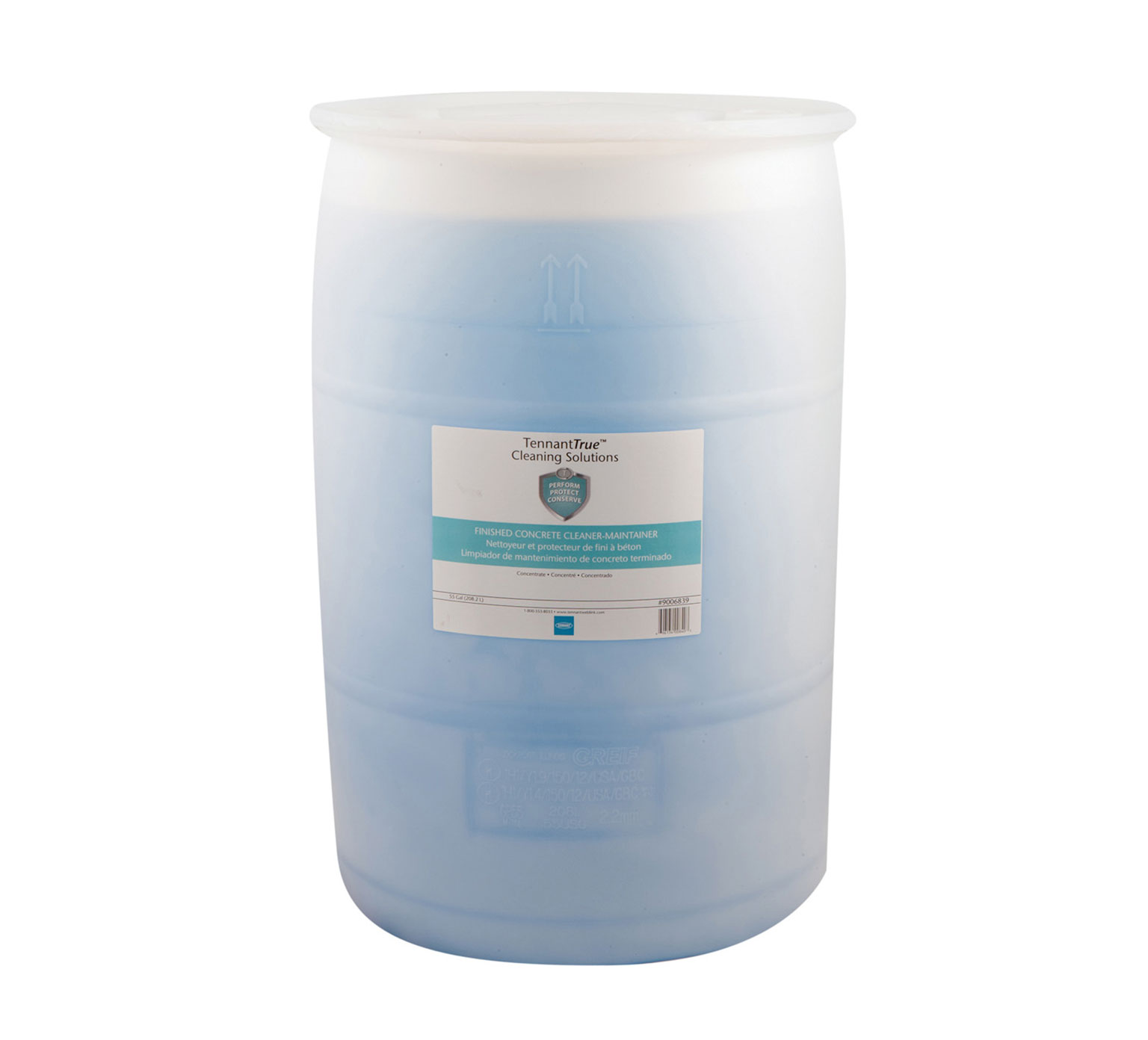 Tennant Light Blue Concrete Cleaner Maintainer 55 Gallon 9006839