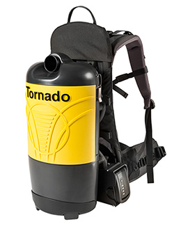 Tornado Pac-Vac 6 Roam 6 Quart Battery Back Pack Vacuum & Tools