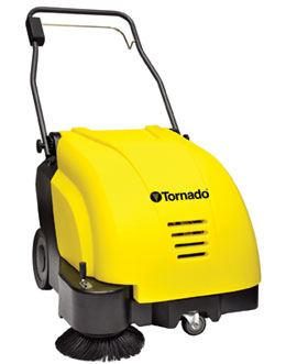Tornado 26 Inch Battery Operated Floor Sweeper