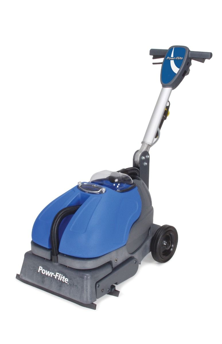 Powr-Flite Powr-Scrub 16 Inch Floor Scrubber With Grout Cleaner CAS16