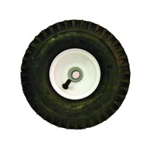10 Inch White Steel Rim Wheel and Tire Assembly