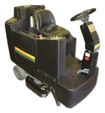 NSS Champ 3329 Ride On Floor Scrubber Electric_burned