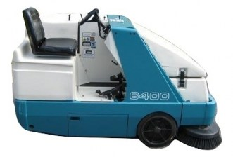 Tennant 6400 Rider Floor Sweeper Propane For Sale_burned