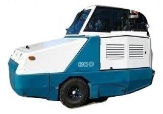 tennant 800 floor sweeper diesel with cab